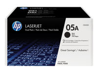HP 05A Black 2-pack LaserJet Toner Cartridge (CE505D)