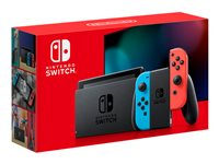 Nintendo Switch with Neon Blue and Neon Red Joy-Con Game console Full HD
