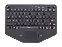 iKey PRO-KB-116 Keyboard with touchpad backlit rack-mountable Bluetooth