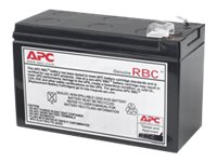 APC Replacement Battery Cartridge #110 - UPS battery - 1 x Lead Acid - black - for P/N: BE550G, BE550G-CN, BE550G-LM, BE550R, BE550R-CN, BR650CI, BR650CI-AS, BR650CI-RS