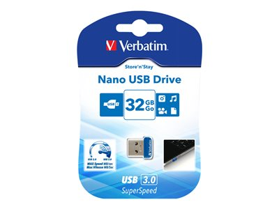 USB-Stick  32GB Verbatim 3.0 Nano Store'n Stay retail