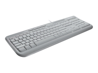 Microsoft Wired Keyboard 600 - Keyboard - USB - English - United Kingdom - white