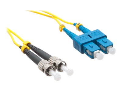 Axiom SC-ST Singlemode Duplex OS2 9/125 Fiber Optic Cable - 25m - Yellow - network cable - TAA Compliant - 25 m - yellow