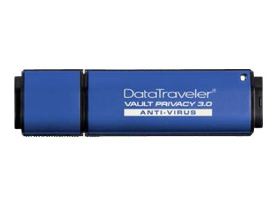 Kingston DataTraveler Vault Privacy 3.0 Anti-Virus - USB-Flash-Laufwerk - verschlüsselt - 4 GB - USB 3.0