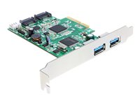 DeLOCK PCI Express Card > 2 x external USB 3.0, 2 x internal SATA 6 Gb/s Lagring / USB3.0 controller