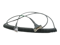 Zebra - Serial cable - power to DB-9 (F) - 9 ft - coiled - for Symbol DS7708, DS9908; Digital Scanner DS9308; Zebra DS4608, DS8108, DS8178, DS9908