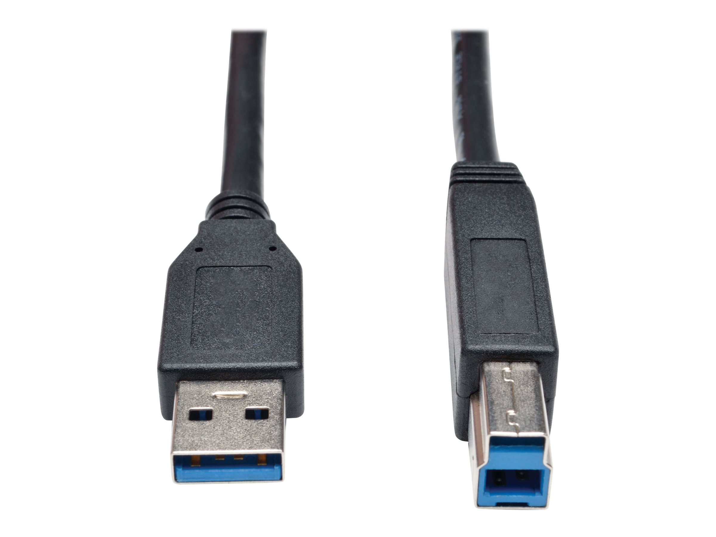 Tripp Lite 3ft USB 3.0 SuperSpeed Device Cable 5 Gbps A Male to B Male Black 3' - USB cable - 91 cm