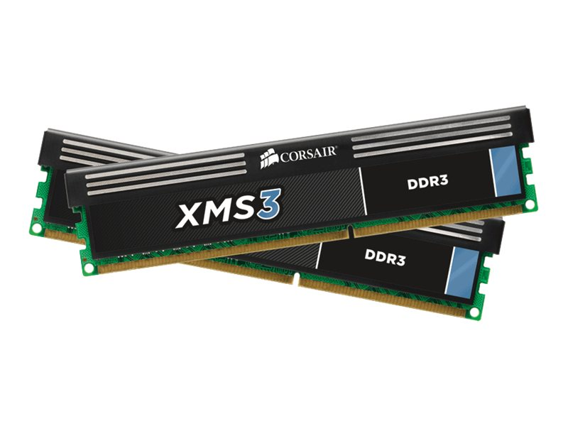 Corsair XMS3 - DDR3 - 8 GB: 2 x 4 GB - DIMM 240-PIN - 1333 MHz / PC3-10600 - CL9