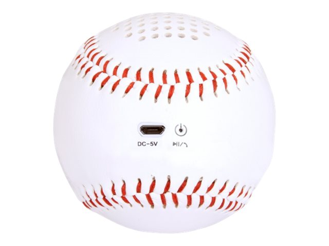 Urban Factory SPORTEE Mini ball Baseball - Haut-parleur - pour utilisation mobile - sans fil - Bluetooth - 3 Watt