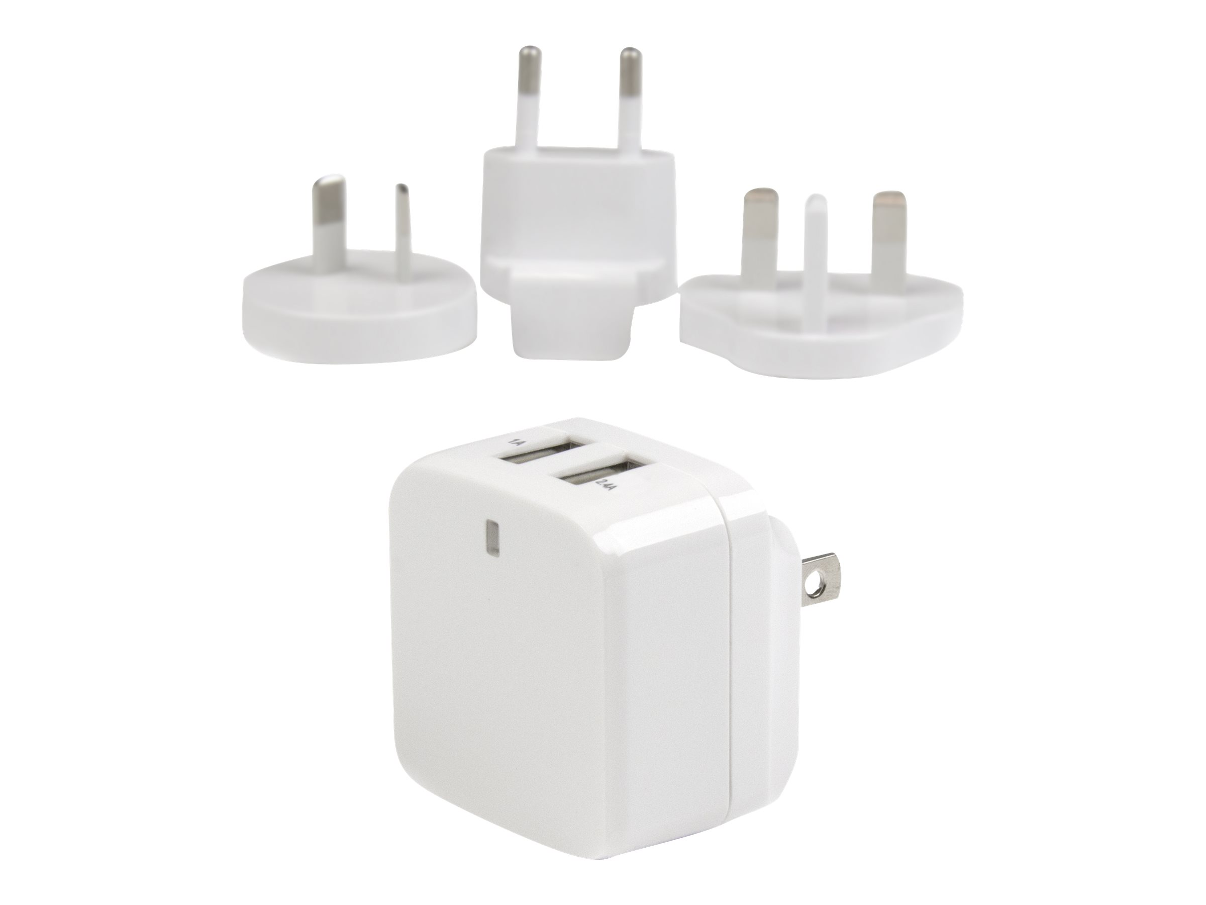 StarTech.com Dual Port USB Wall Charger 17W/3.4A - Travel Charger 110V/220V power adapter
