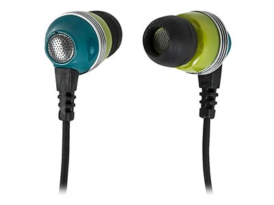 Monoprice Enhanced Bass Noise Isolating Earphones Earphones with mic in-ear wired