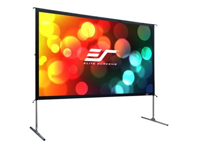Elite Screens Yard Master 2 Series OMS100HR2 Projection screen with legs rear