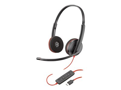 Poly Blackwire C3220 USB-C - 3200 Series - headset - on-ear - wired - USB-C - noise isolating