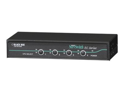 Black Box EC Series KVM Switch for PS/2 and USB servers & PS/2 Consoles - 4-Port - KVM switch - 4 ports