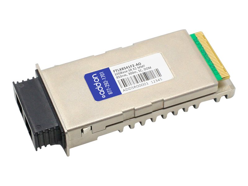 AddOn Finisar FTLX8541F2 Compatible X2 Transceiver - X2 transceiver module - 10 GigE