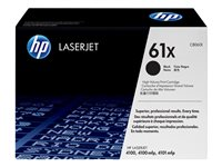HP 61X High Yield black original LaserJet toner cartridge (C8061X)