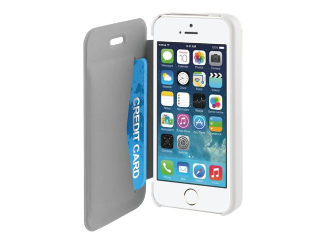 Muvit Ultra Slim Folio - Protection à rabat pour iPhone 5, 5s - blanc