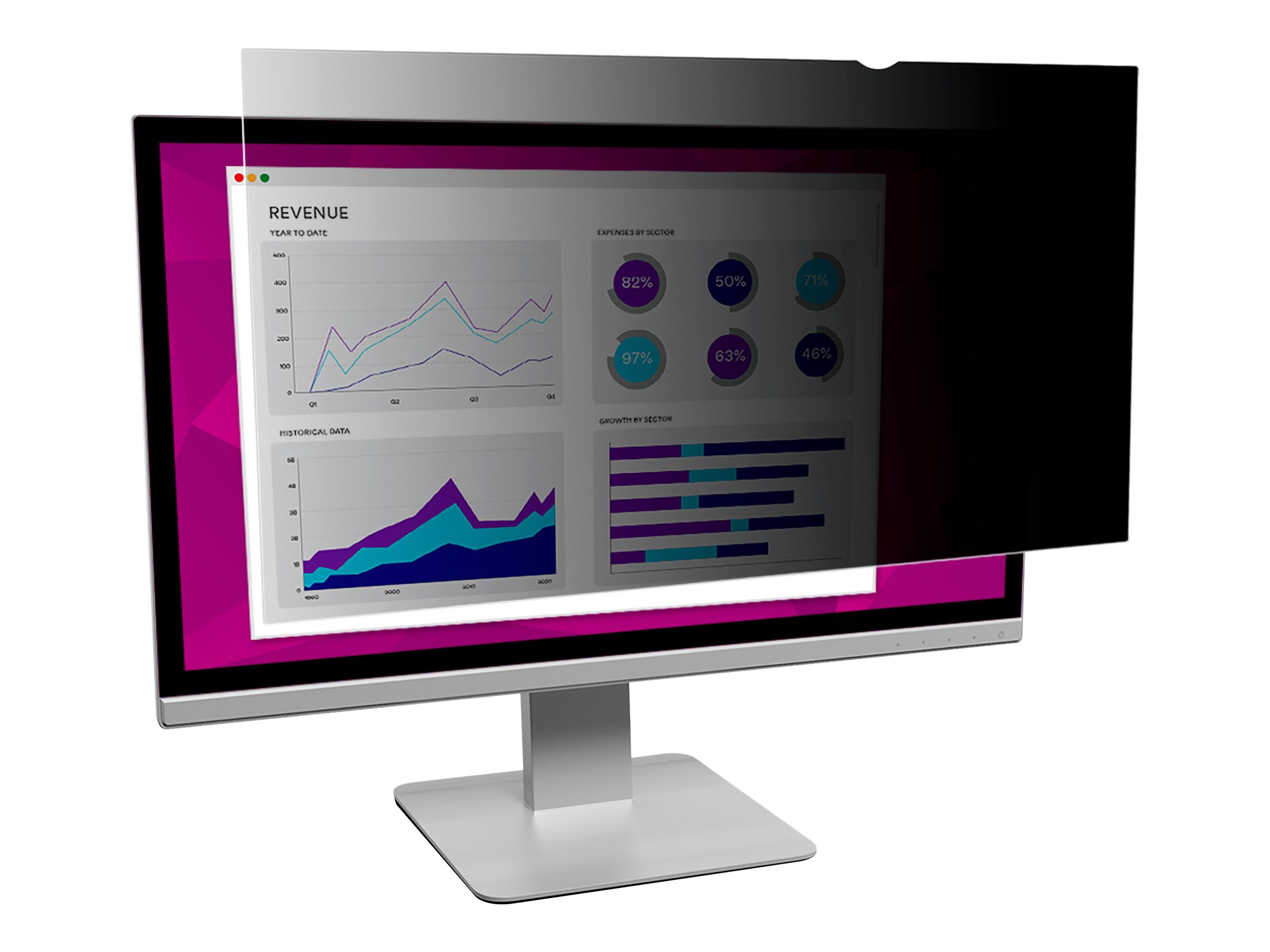 """3M High Clarity Privacy Filter for 27"""" Widescreen Monitor - display privacy filter - 27"""" wide"""