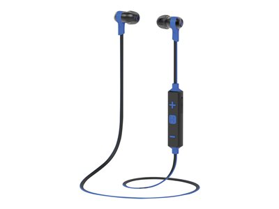 iHome iB39 Earphones with mic in-ear Bluetooth wireless noise isolating blue