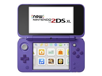 New Nintendo 2DS XL - Handheld game console - silver, purple - Mario Kart 7