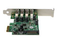 StarTech.com 4-Port PCI Express SuperSpeed USB 3.0 Controller Card with UASP - USB 3.0 Expansion Card with SATA Power (PEXUSB3S4V) - USB adapter - PCIe - USB 3.0 x 4 - for P/N: BNDTB10GI, BNDTB210GSFP, BNDTB410GSFP, BNDTB4M2E1, BNDTBUSB3142, HBS304A24A