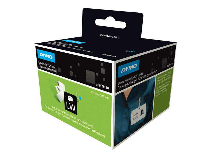 DYMO Large Name Badge Cards - cartes pour badges