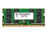 HP - DDR4 - 16 GB - SO-DIMM 260-pin - 2666 MHz / PC4-21300 - 1.2 V - unbuffered - non-ECC - promo - for Elite Slice G2; EliteDesk 705 G5, 800 G5; EliteOne 800 G5; ProOne 440 G5, 600 G5
