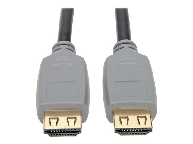 Tripp Lite High-Speed HDMI 2.0a Cable with Gripping Connectors 4K 60 Hz 4:4:4 M/M Black 2m