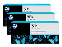 HP 771A Tri-pack 3-pack 775 ml light cyan original ink cartridge
