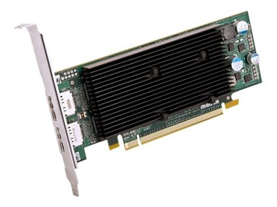 Matrox M9128 LP Graphics card M9128 1 GB DDR2 PCIe x16 low profile 2 x Di