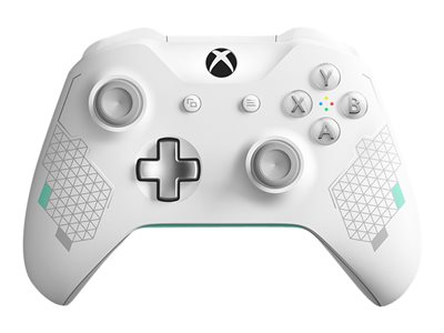 Microsoft Xbox Wireless Controller - Sport White Special Edition - gamepad - wireless - Bluetooth - fresh white with mint and silver accents - for PC, Microsoft Xbox One, Microsoft Xbox One S, Microsoft Xbox One X