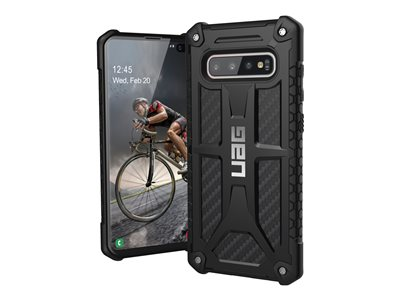 Rugged Case for Samsung Galaxy S10 Plus [6.4-inch screen] - Monarch Carbon Fiber