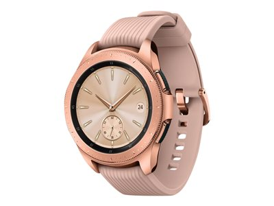 Samsung Galaxy Watch 42 mm rose gold smart watch with band silicone display 1.2INCH 4 GB