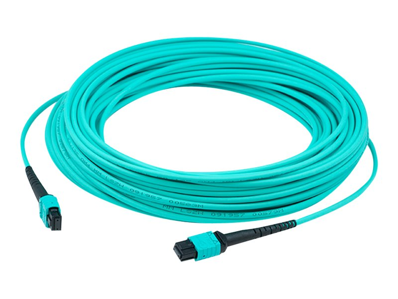 AddOn 1m MPO OM3 Aqua Patch Cable - patch cable - 1 m - aqua