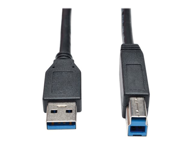 Tripp Lite 15ft USB 3.0 SuperSpeed Device Cable 5 Gbps A Male to B Male Black 15'