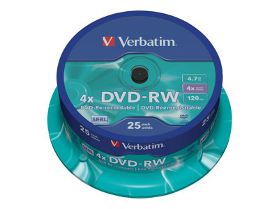 - DVD-RW x 25 - 4.7 Go - support de stockage