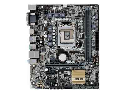 ASUS H110M-PLUS - Motherboard - micro ATX - LGA1151 Socket - H110 - USB 3.0, USB 3.1 - Gigabit LAN - onboard graphics (CPU required) - HD Audio (8-channel)