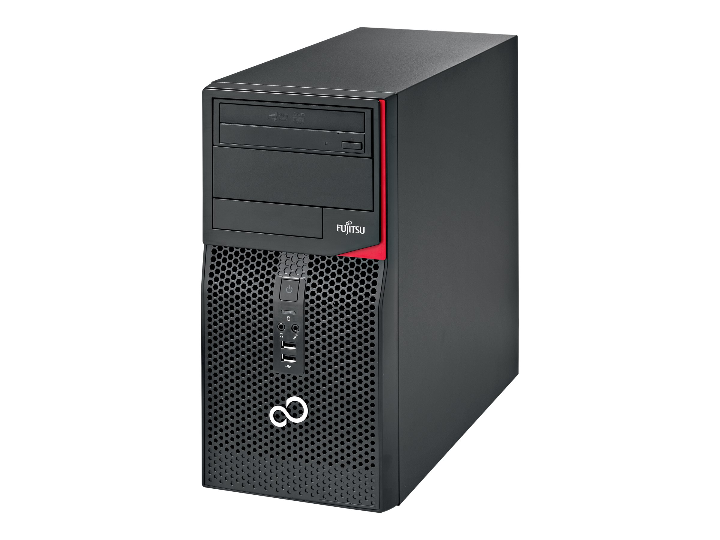 Fujitsu ESPRIMO P556 E85+ - Micro Tower - 1 x Core i3 6100 / 3.7 GHz - RAM 4 GB - HDD 500 GB - DVD SuperMulti