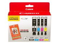 Canon PGI-250/CLI-251 4 Color Combo Pack 4-pack yellow, cyan, magenta, pigmented black