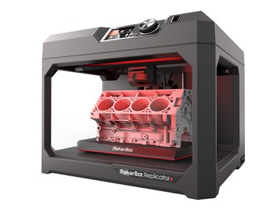 MakerBot Replicator + 3D printer FDM build size up to 11.61 in x 7.68 in x 6.5 in