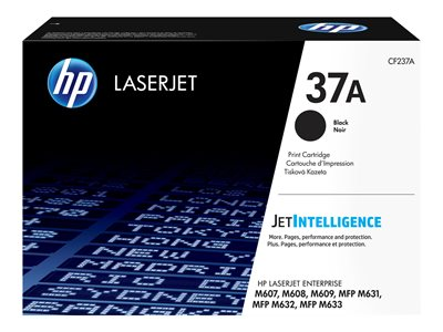 HP 37A Black original LaserJet toner cartridge (CF237A)