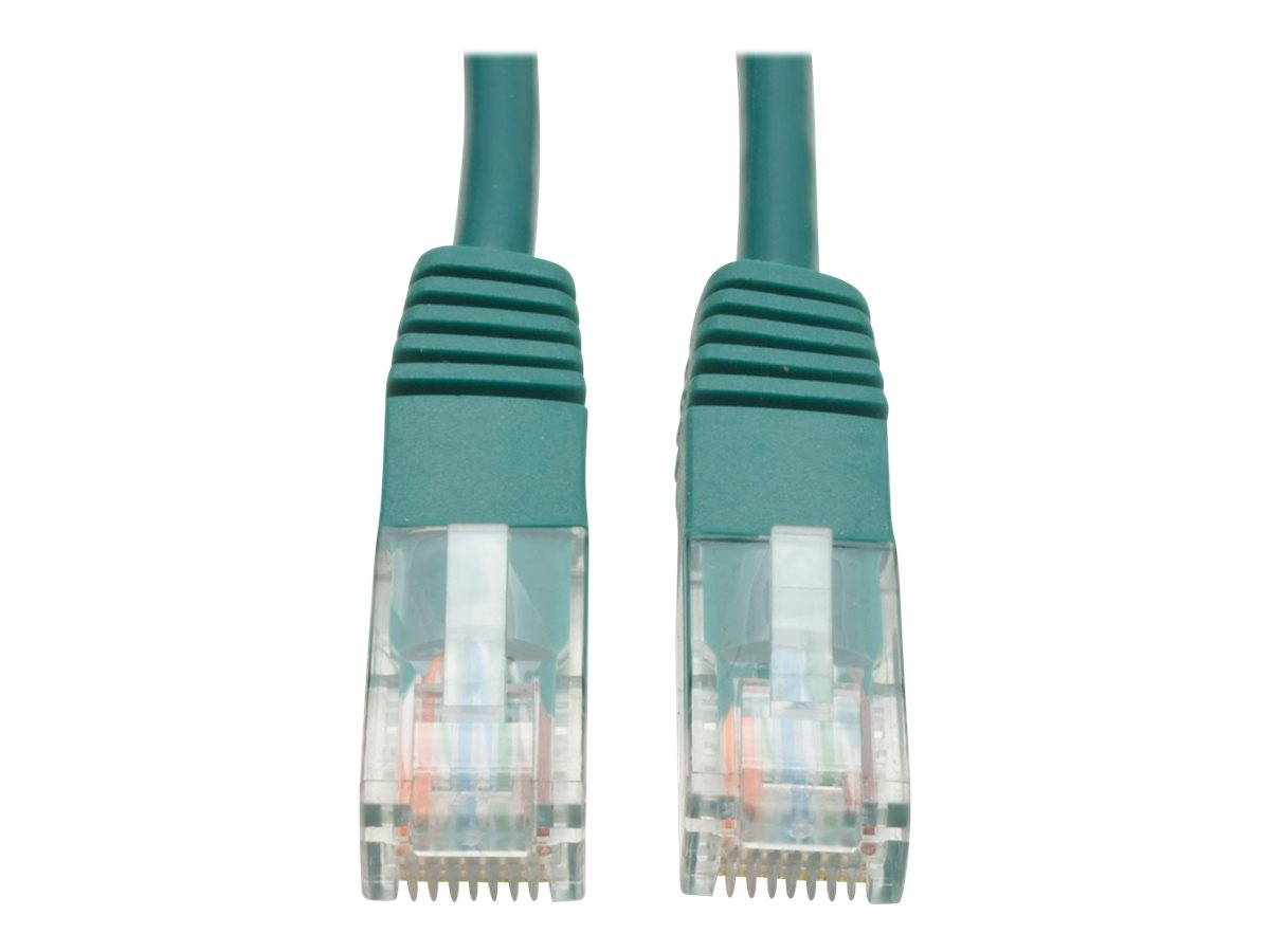 Tripp Lite 10ft Cat5e / Cat5 350MHz Molded Patch Cable RJ45 M/M Green 10' - patch cable - 3 m - green