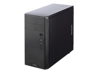Fractal Design Core 1100 - Tower - mini ATX - no power supply (ATX12V) - black - USB/Audio