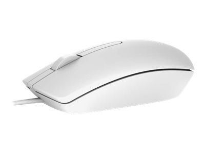 Dell MS116 - Souris - optique - filaire - USB - blanc - pour Inspiron 3459; Latitude E7270, E7470; Precision Mobile Workstation 3510, 5510, 7510, 7710