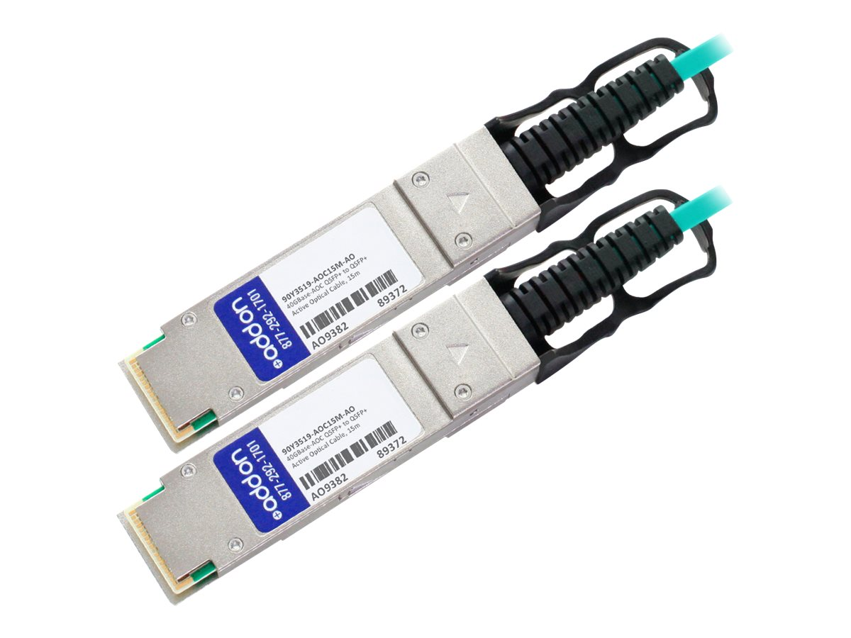 AddOn 40GBase-AOC direct attach cable - TAA Compliant - 15 m