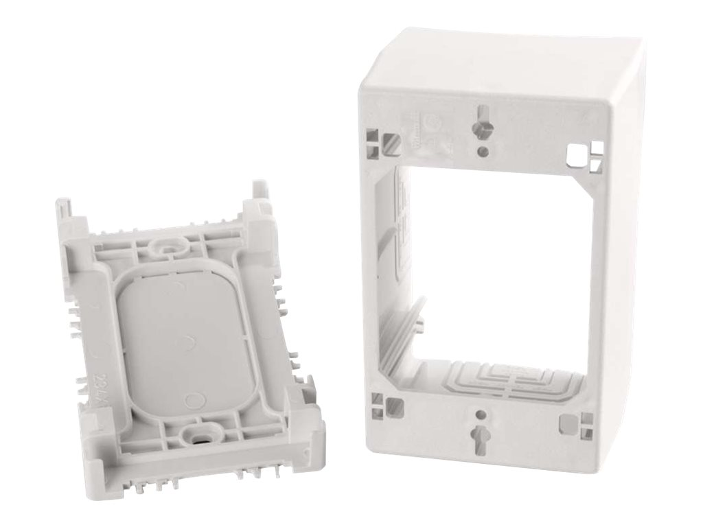 C2G Wiremold Uniduct Single Gang Extra Deep Junction Box - White - cable raceway junction box