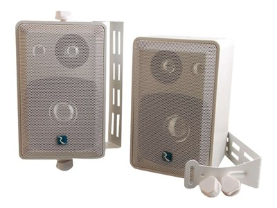 C2G Wall/Ceiling-Mount Speakers 3-way light gray