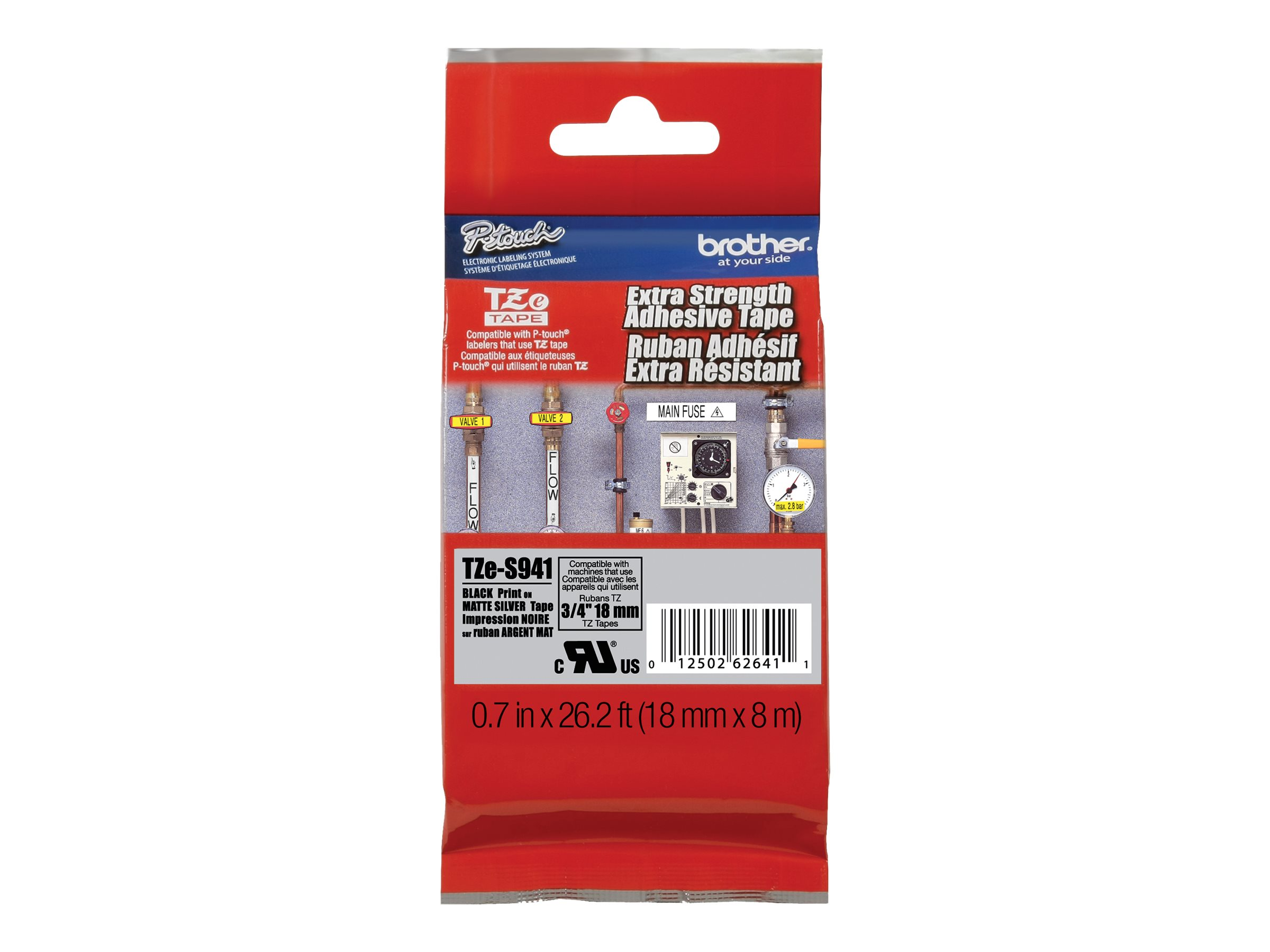 Brother TZe-S941 - laminated tape - 1 roll(s) - Roll (1.8 cm x 8 m)