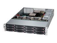 Supermicro SuperStorage Server 6028R-E1CR12T Server rack-mountable 2U 2-way RAM 0 MB