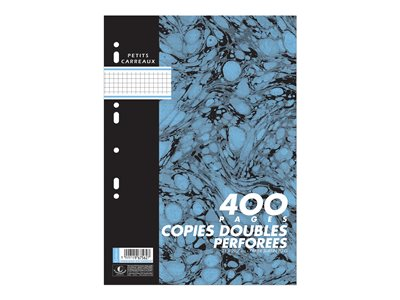 Copies doubles Cambridge - 400 Feuilles doubles -- A4 - petits carreaux